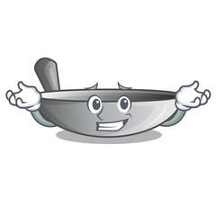 Grinning wok frying pan utensil kitchenware cartoon