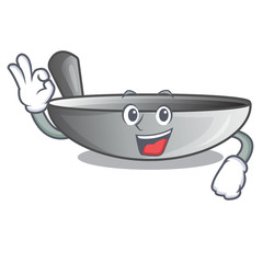 Okay wok frying pan utensil kitchenware cartoon