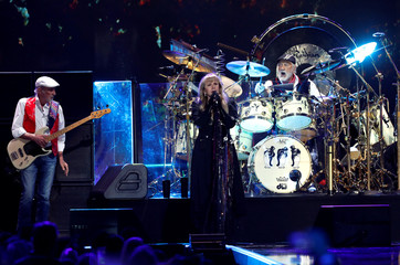 Stevie Nicks sings as Fleetwood Mac performs during the iHeartRadio Music Festival at T-Mobile Arena in Las Vegas