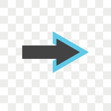 Right arrow vector icon isolated on transparent background, Right arrow logo design