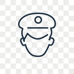 Policeman vector icon isolated on transparent background, Policeman logo design
