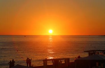 Photo landscape sunset at the sea