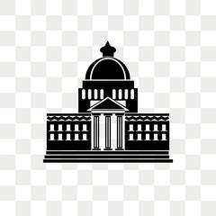 White house vector icon isolated on transparent background, White house logo design