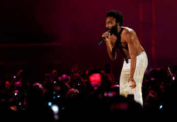 Childish Gambino performs during the iHeartRadio Music Festival at T-Mobile Arena in Las Vegas