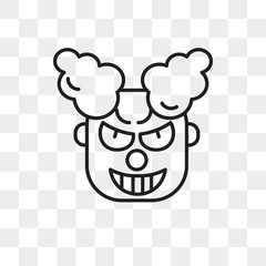 Clown vector icon isolated on transparent background, Clown logo design