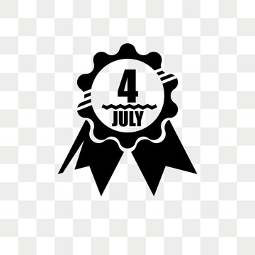 4th of july vector icon isolated on transparent background, 4th of july logo design