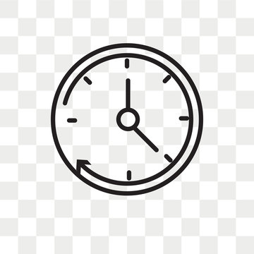 Clock vector icon isolated on transparent background, Clock logo design