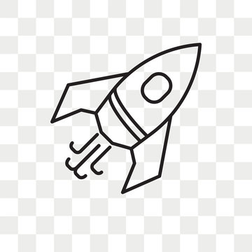 Rocket vector icon isolated on transparent background, Rocket logo design
