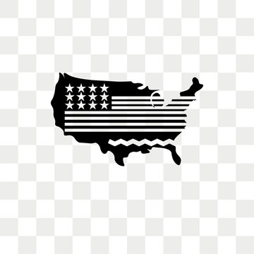 Usa vector icon isolated on transparent background, Usa logo design