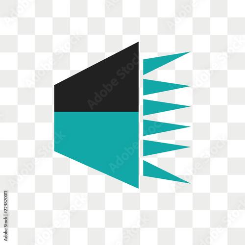 Speech data interface audio vector icon isolated on transparent