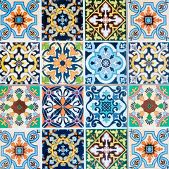 Tuinposter Marokkaanse Tegels ceramic tiles patterns