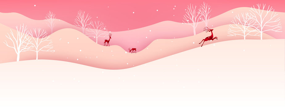 Merry Christmas and Happy New Year. Christmas sale. Holiday background. paper craft style