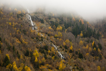Wall Mural - Swiss alps in the autumn, waterfall