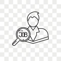 Employee vector icon isolated on transparent background, Employee logo design