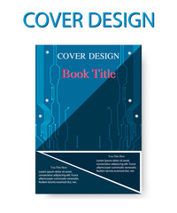 book cover design circuit template. Vector illustration