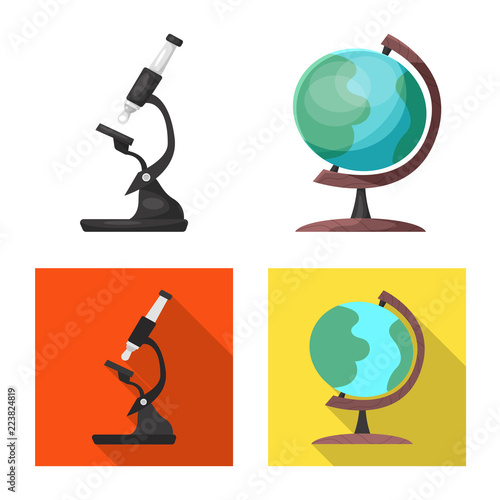 Vector Illustration Of Education And Learning Symbol Set Of