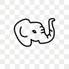 Elephant vector icon isolated on transparent background, Elephant logo design