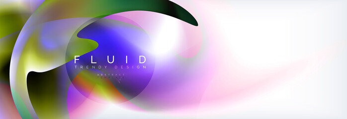 Background abstract holographic fluid colors wave design
