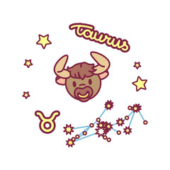 vector cute Zodiac sign