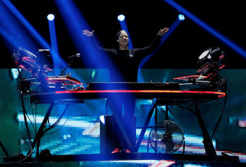 Norwegian DJ Kygo performs during the iHeartRadio Music Festival at T-Mobile Arena in Las Vegas