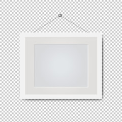 Picture White Frame Isolated Transparent Background