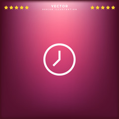 Premium Symbol of Wall Clock Related Vector Line Icon Isolated on Gradient Background. Modern simple flat symbol for web site design, logo, app, UI. Editable Stroke. Pixel Perfect.