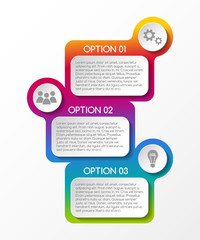 Layout of business infographic with icons. Vector.
