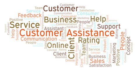 Customer Assistance word cloud.