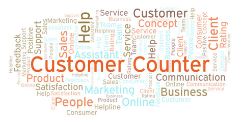 Customer Counter word cloud.