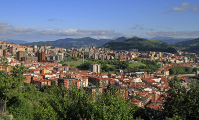 the cityscape of Bilbao - capital city of Basque country