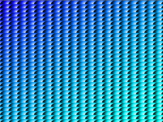Abstract symmetrical pattern in blue and light blue gradient
