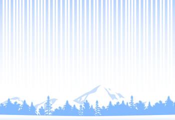 冬 雪山風景