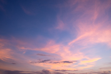 Backgrounds, light, evening sky and clouds