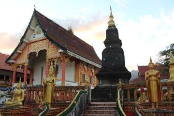Vang Vieng, Laos - December 31, 2015 : Wat That Temple, Vang Vieng