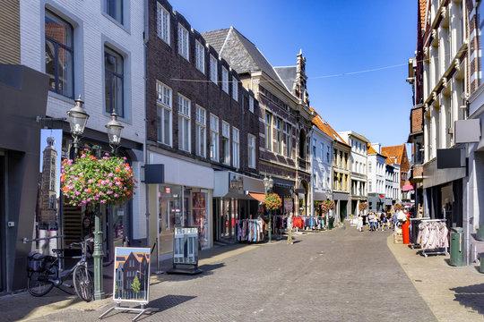 Einkaufsstraße in der Altstadt von Venlo