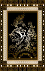 Graphical illustration of a Tarot card 7