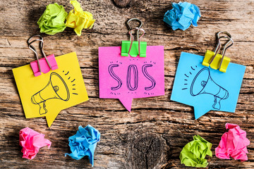Note Post-it : SOS