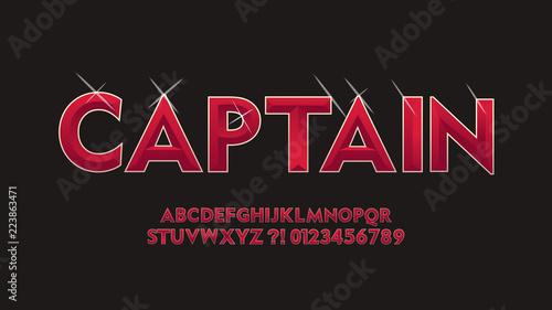 Vector Superhero Stylish Cool Font Shining 3d Alphabet Letters