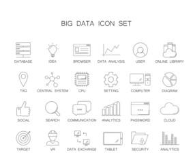 Line icons set. Big data pack. Vector illustration