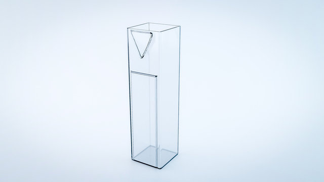 Cuvette for Spectrophotometry experiments to measure how much a chemical substance absorbs light
