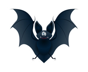 Funny bat on a white background.
