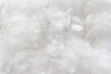 White cotton texture is soft, fluffy wadding background