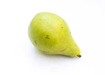 Fresh pear on a white background