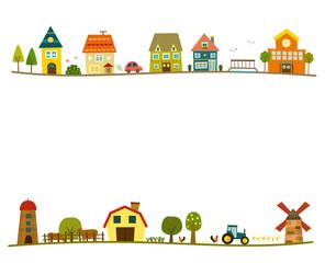 Street Scene - Countryside - Houses