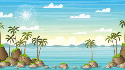 Tropical Coastal Summer Landscape