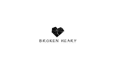 Broken Heart vector logo image