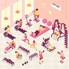 Isometric Fitness Illustration