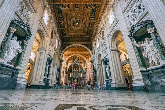 Basilica St John Lateran (Basilica di San Giovanni in Laterano) Rome, italy