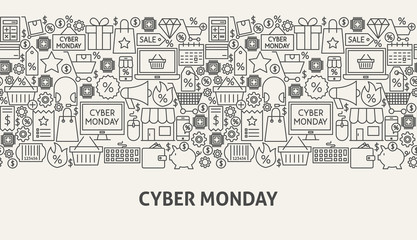 Cyber Monday Banner Concept