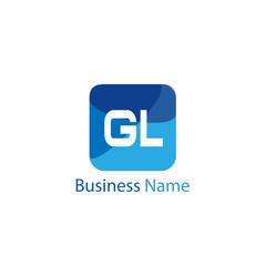 Initial Letter GL Logo Template Design